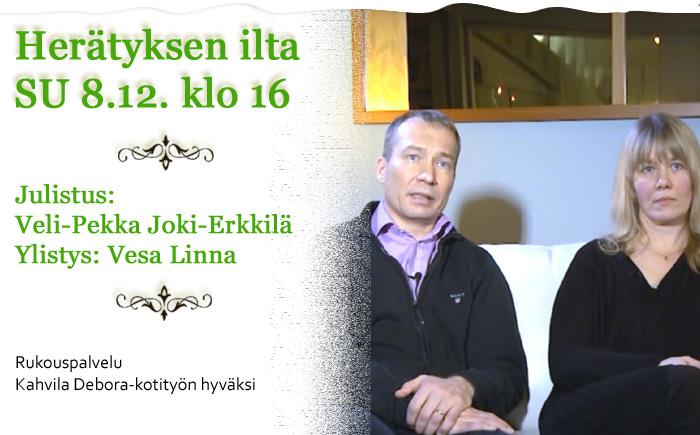 SU 8.12.2019 klo 16 Herätyksen ilta – Veli-Pekka Joki-Erkkilä