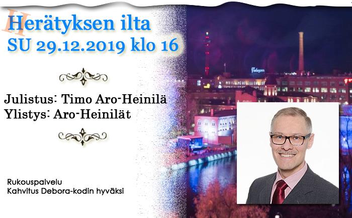 SU 29.12.2019 klo 16 – Herätyksen ilta – Timo Aro-Heinilä