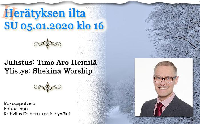 SU 5.1.2020 klo 16 Herätyksen ilta – Timo Aro-Heinilä & Shekina Worship