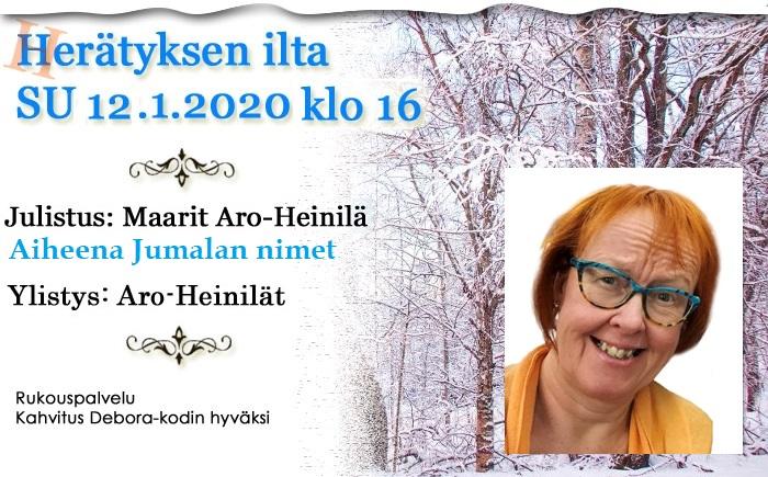 SU 12.1.2020 Herätyksen ilta – Maarit Aro-Heinilä