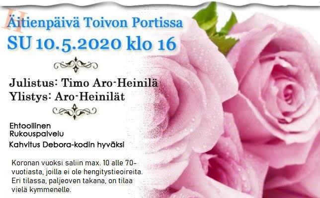 SU 10.5.2020 klo 16 Äitienpäivän ilta – Timo Aro-Heinilä