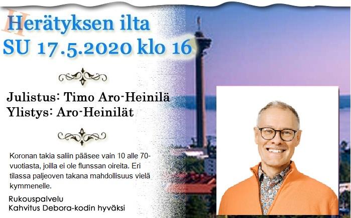 SU 17.05.2020 klo 16 Herätyksen ilta – Timo Aro-Heinilä