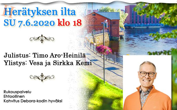 SU 07.06.2020 klo 18 – Herätyksen ilta: Timo Aro-Heinilä