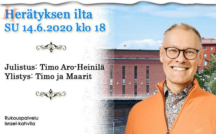 SU 14.6.2020 klo 18 Herätyksen ilta – Timo Aro-Heinilä
