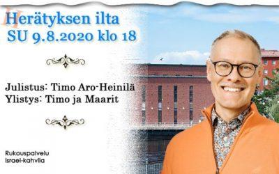 SU 9.8.2020 klo 18 Herätyksen ilta – Timo Aro-Heinilä
