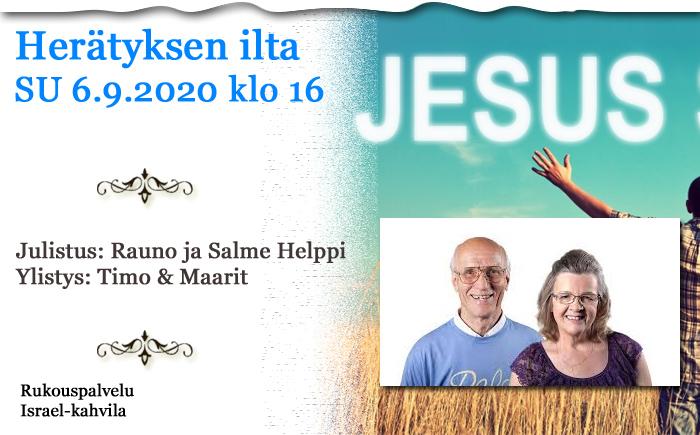 SU 6.9.2020 klo 16 Herätyksen ilta – Rauno ja Salme Helppi