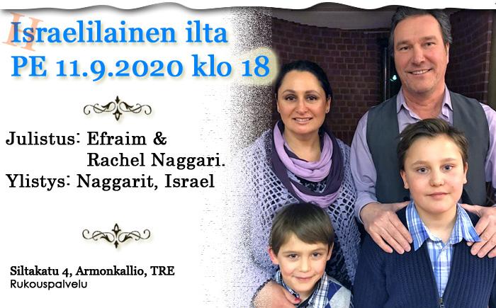 PE 11.9.2020 klo 18 Israelilainen ilta – Naggarit