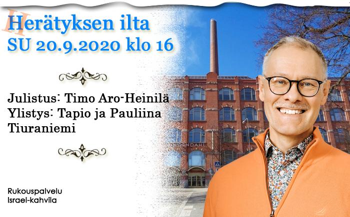 SU 20.9.2020 klo 16 Herätyksen ilta – Timo Aro-Heinilä