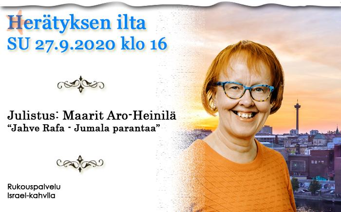 SU 27.9.2020 klo 16 Herätyksen ilta – Maarit Aro-Heinilä