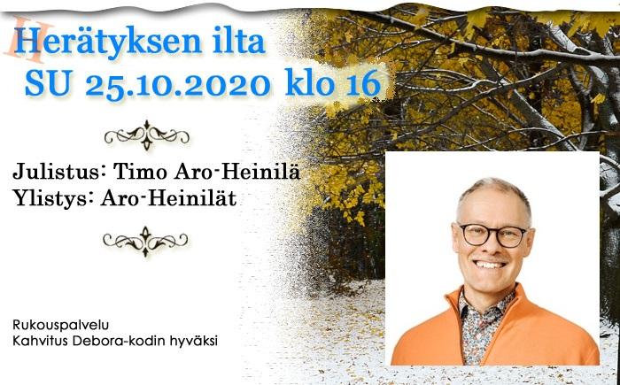 SU 25.10.2020 klo 16 Herätyksen ilta – Timo Aro-Heinilä