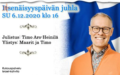 SU 6.12.2020 klo 16 Itsenäisyyspäivän juhla – Timo Aro-Heinilä