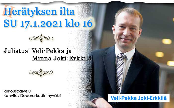 SU 17.01.2021 klo 16- Herätyksen ilta – Veli-Pekka ja Minna Joki-Erkkilä