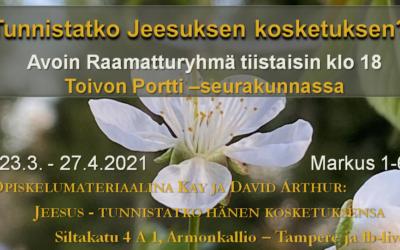 Tiistaisin 23.3. – 26.4.2021 Raamatturyhmä klo 18