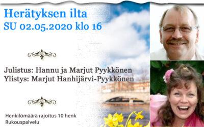 SU 02.05.2021 klo 16 Herätyksen ilta – Hannu ja Marjut Pyykkönen